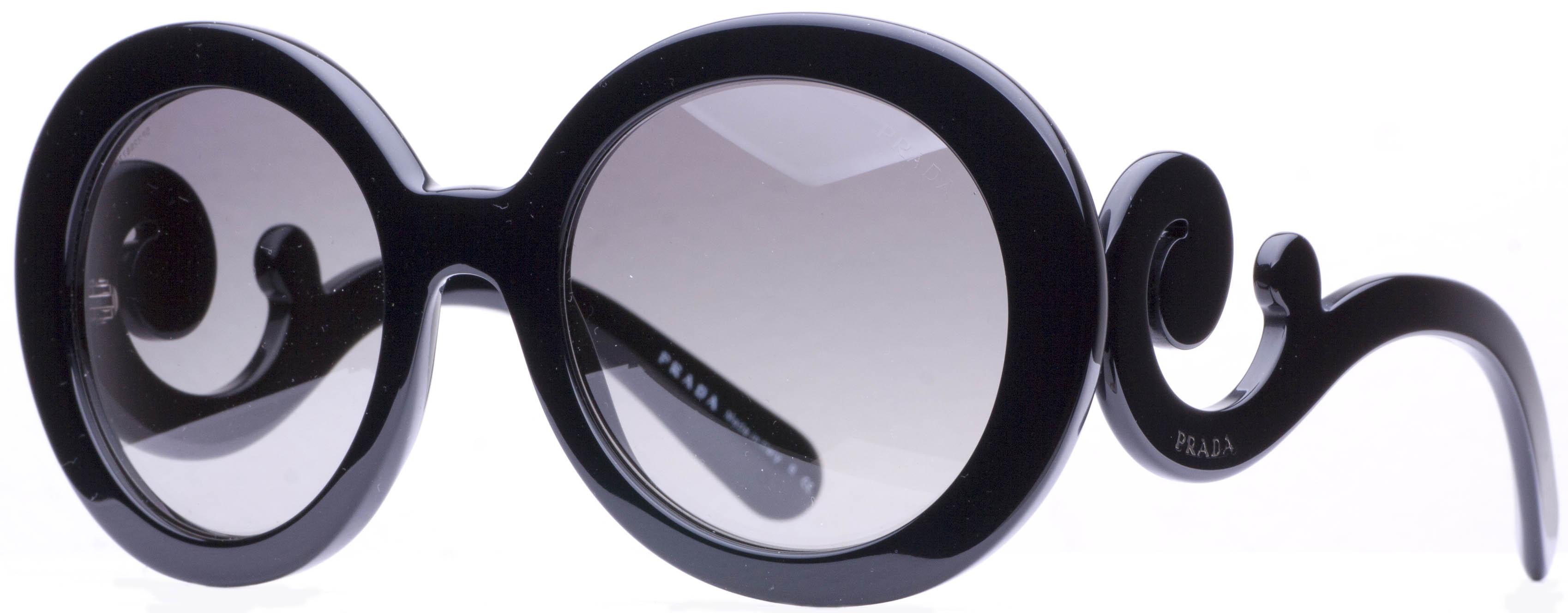 prada spr 27n round baroque swirl womens sunglasses ebay