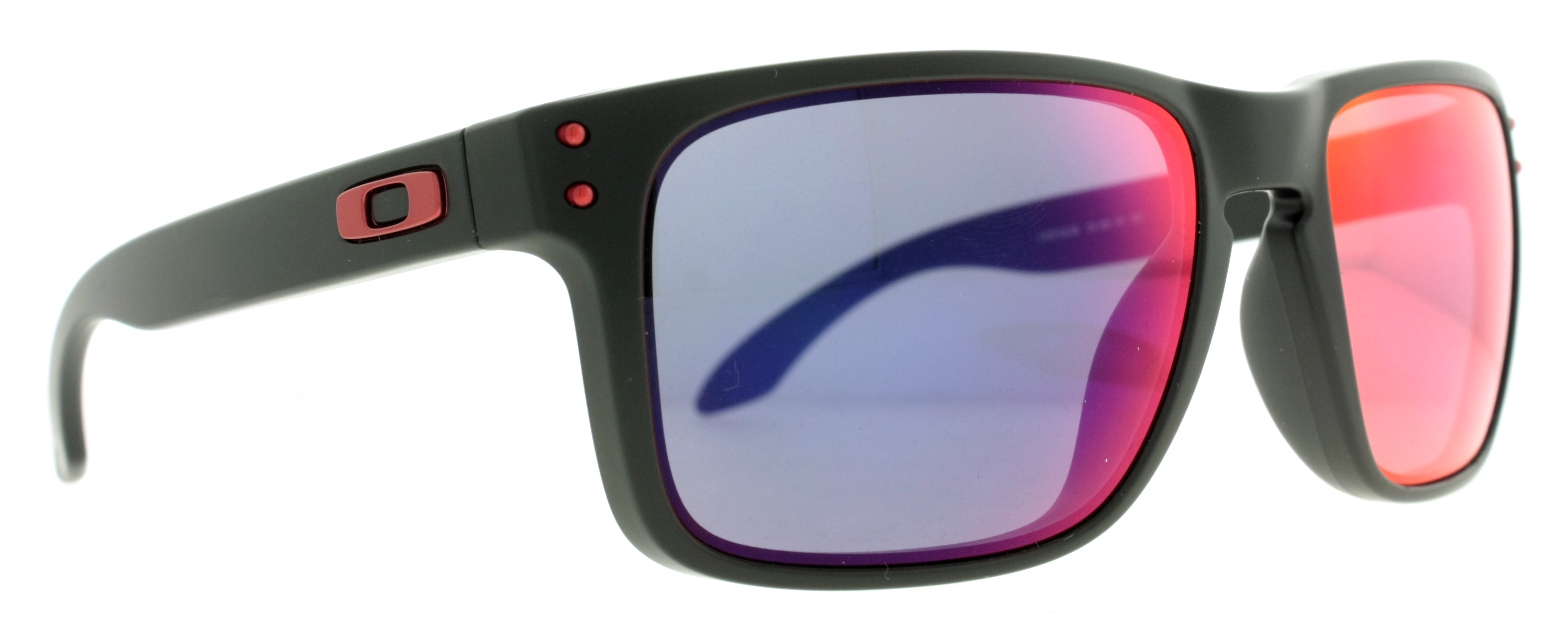 oakley matte black gascan sunglasses  matte black w/ red iridium