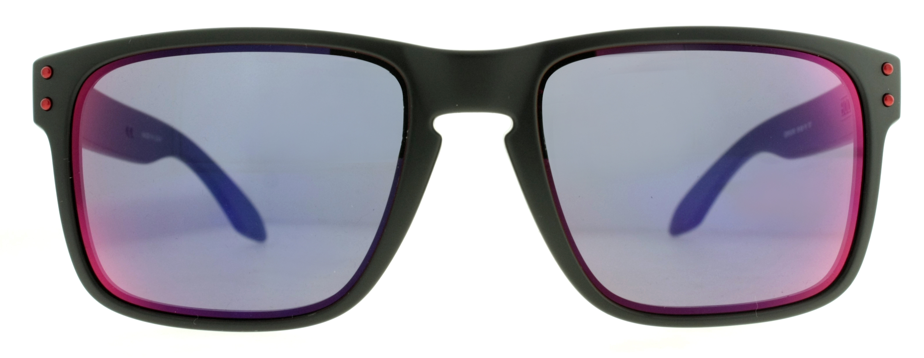 black and blue oakley sunglasses d1xw  Oakley Holbrook OO9102-36 Matte Black Blue Iridium Sunglasses 55mm