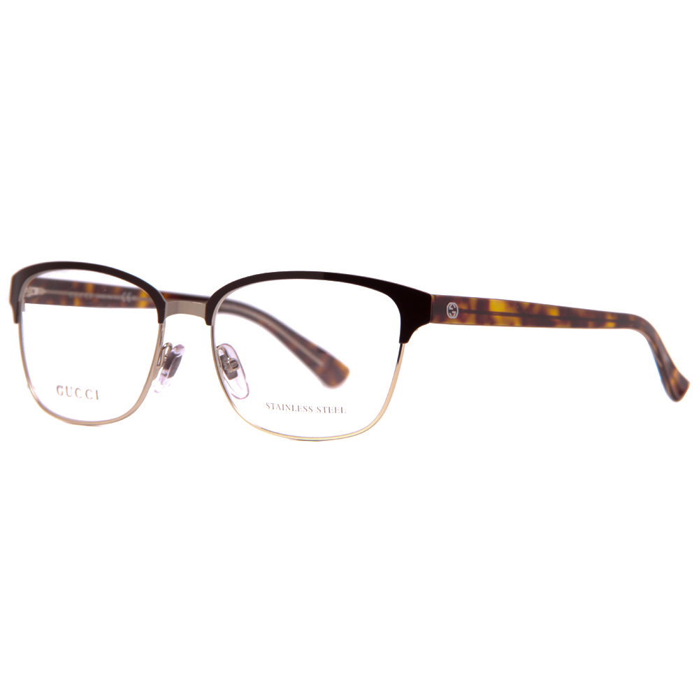 gucci gg 4272 2cs light gold brown havana crystal womens eyeglasses 54mm