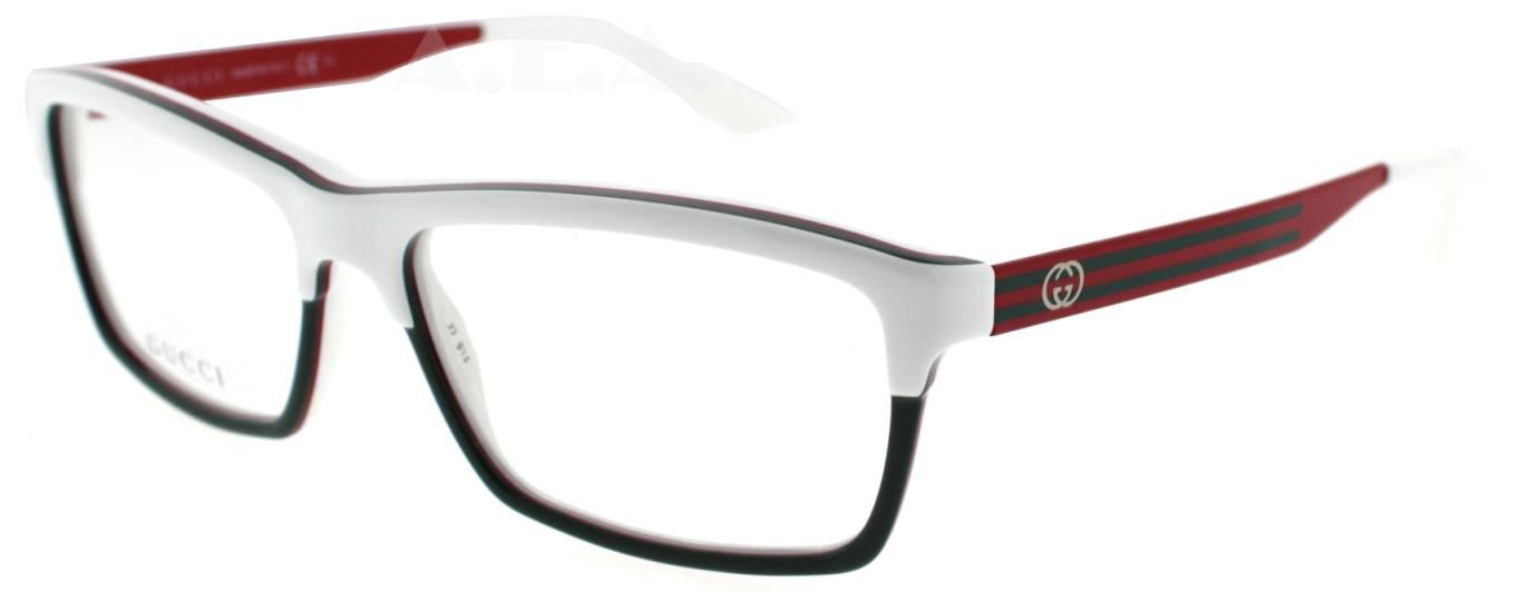 White Gucci Eyeglass Frames : GUCCI GG 3517 WXF WHITE/GREEN/RED UNISEX DESIGNER ...