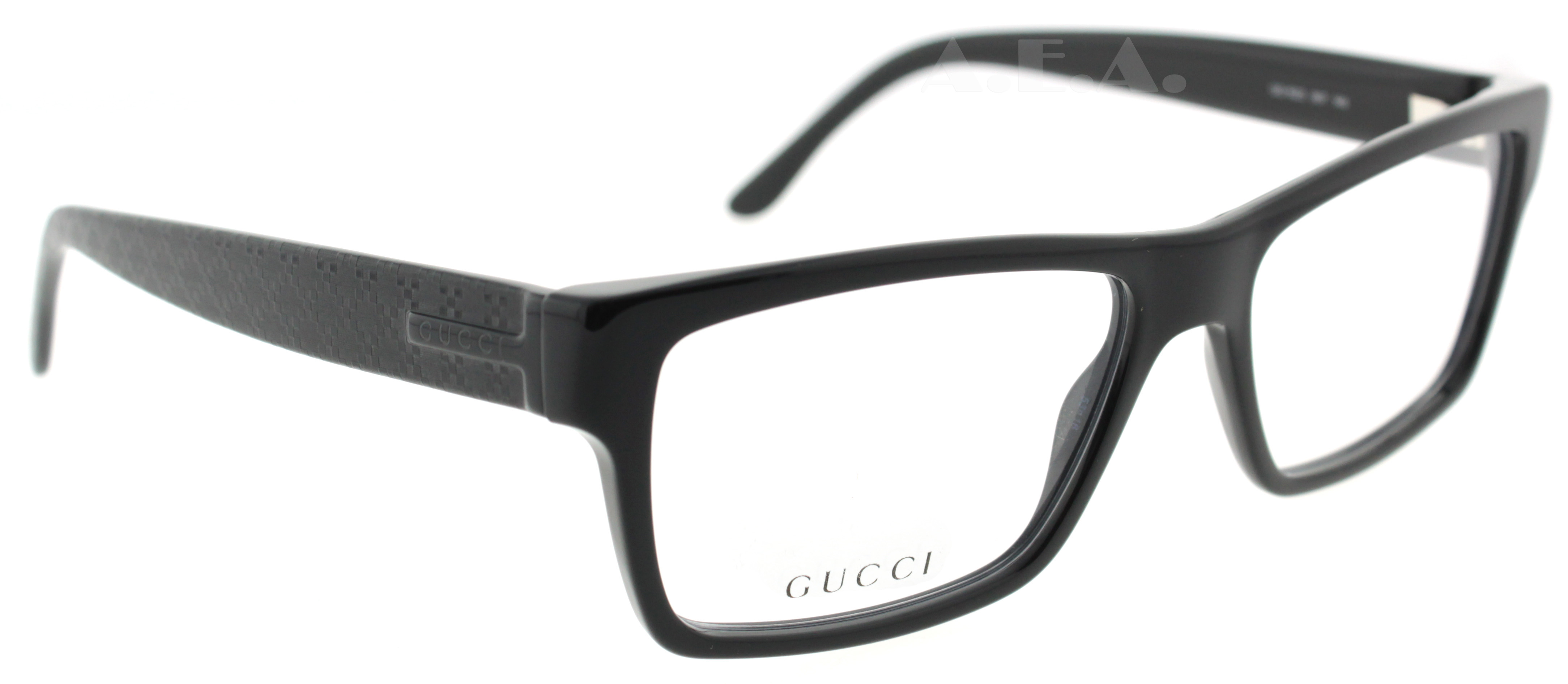Gucci Eyeglass Frames Mens : GUCCI GG 1022 BLACK 807 GG1022 MENS DESIGNER EYEGLASSES ...