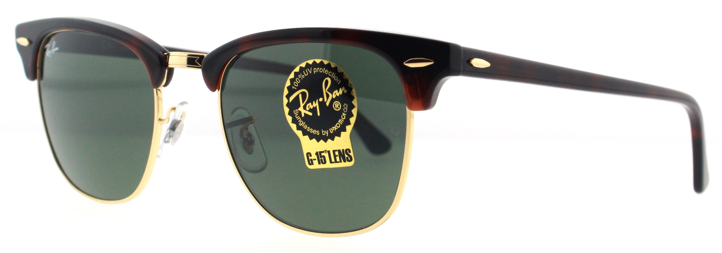clubmaster classic tortoise  Ray Ban RB 3016 Clubmaster Unisex Sunglasses- Black and Tortoise