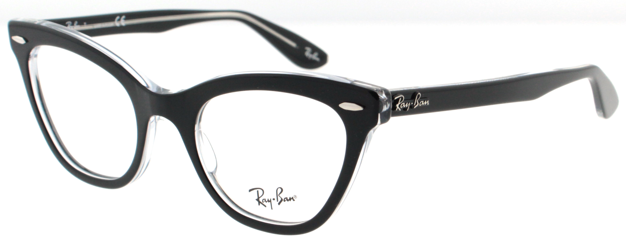 Ray Ban RB RX 5226 2034 Black/Crystal Womens Cat Eye ...