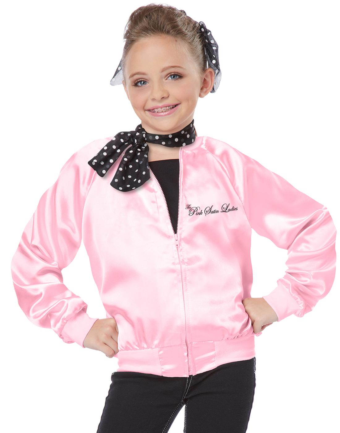 grease the pink ladies satin jacket tbird 50u0027s child halloween grease the pink ladies satin jacket t bird 50u0027s child halloween
