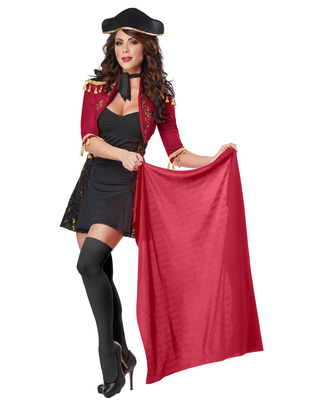 Spanish Matador Bull Fighter Fancy Dress Womens Halloween Party ...