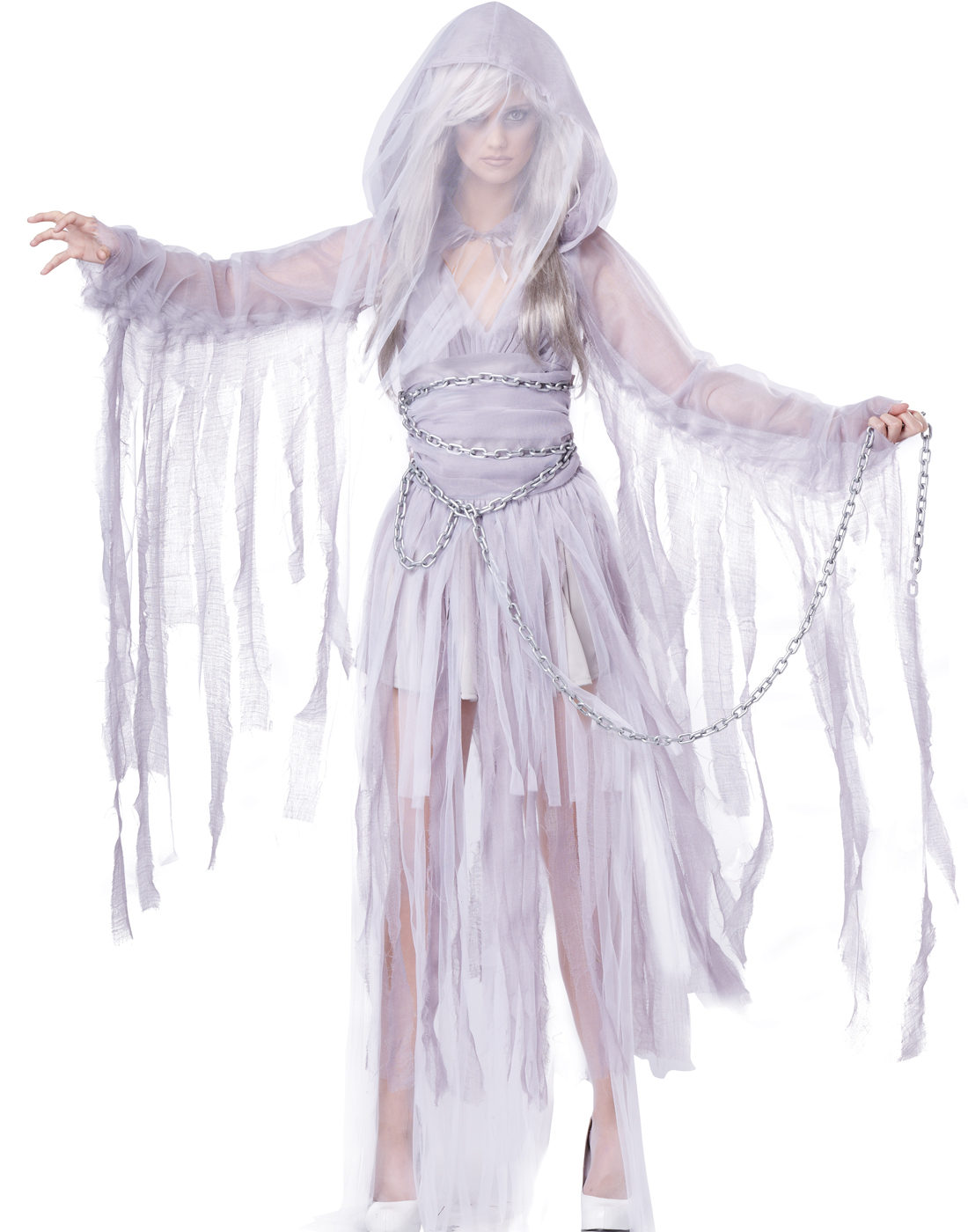 Sexy Vampire White Ghost Scary Corpse Bride Classic Womens