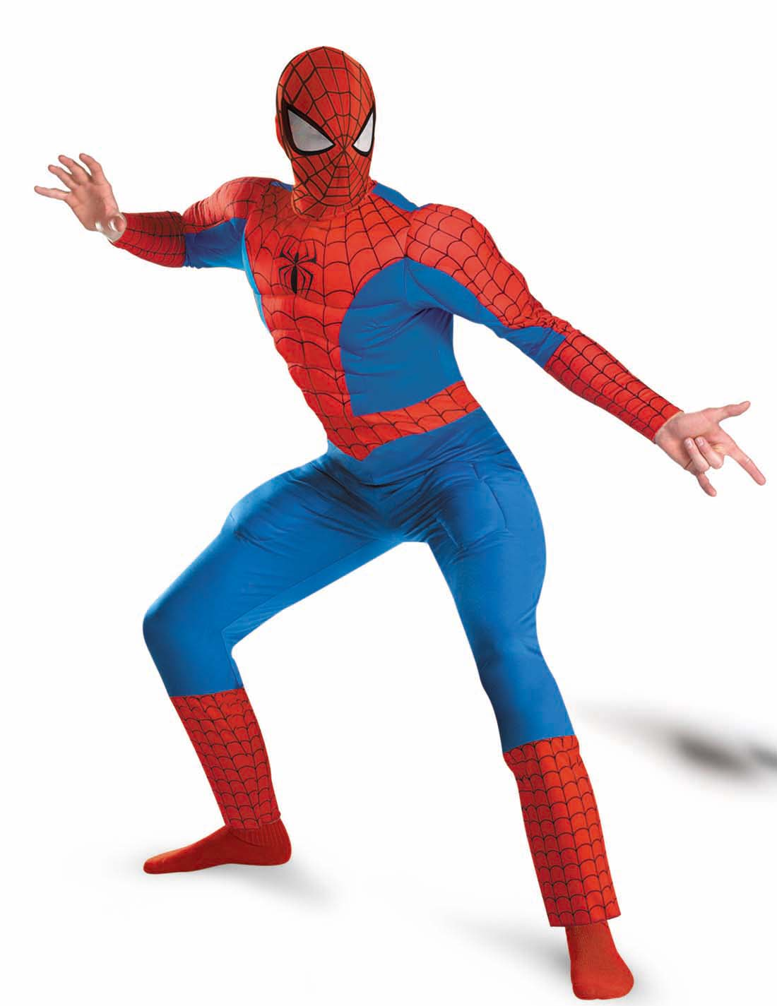 The Amazing Spider Man Deluxe Mens Muscle Suit Halloween Adult Costume 42 46 - eBay