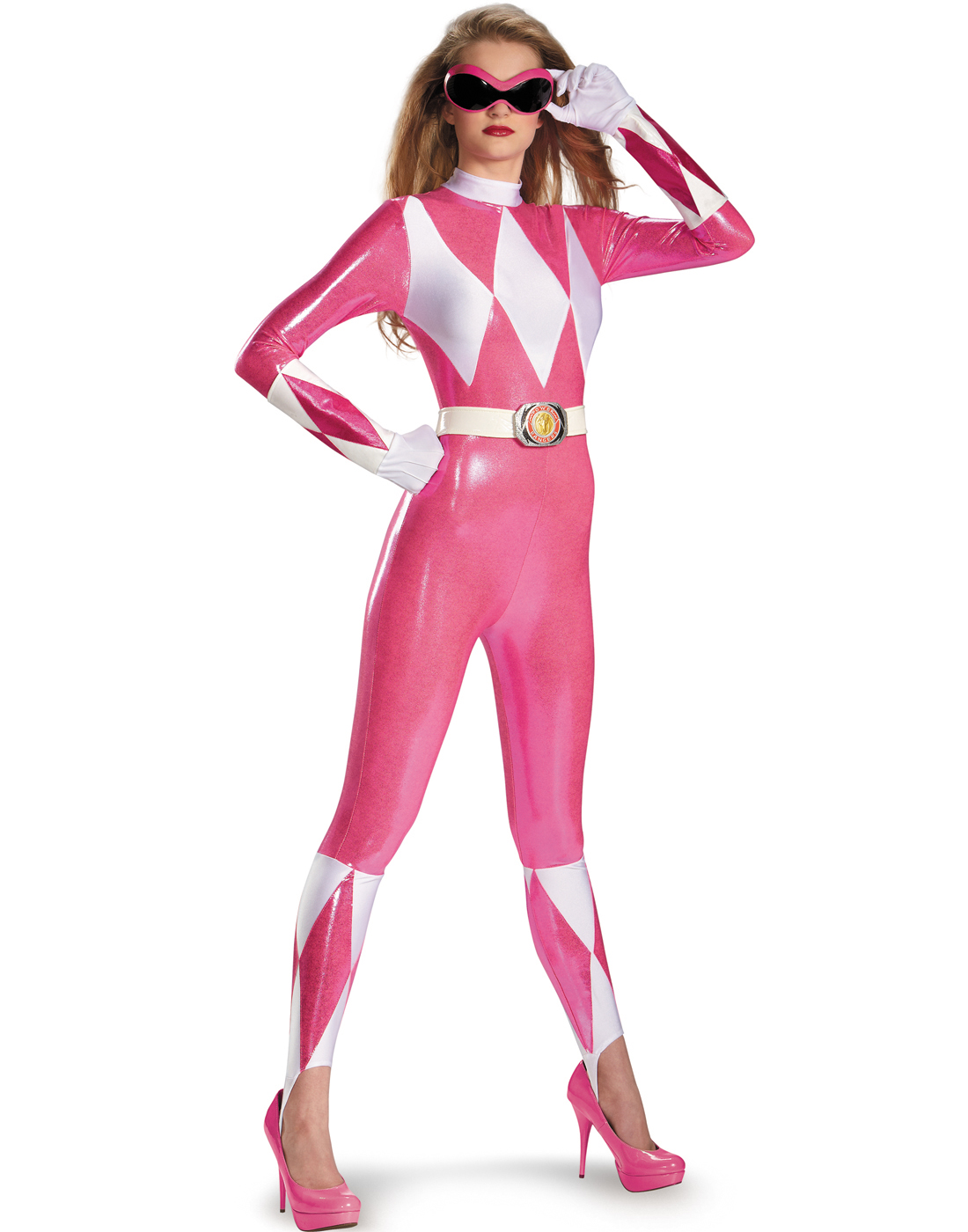 ... Power-Ranger-Pink-Ranger-Sexy-Super-Hero-Bodysuit-  sc 1 st  eBay & Power Ranger Pink Ranger Sexy Super Hero Bodysuit Halloween Costume ...