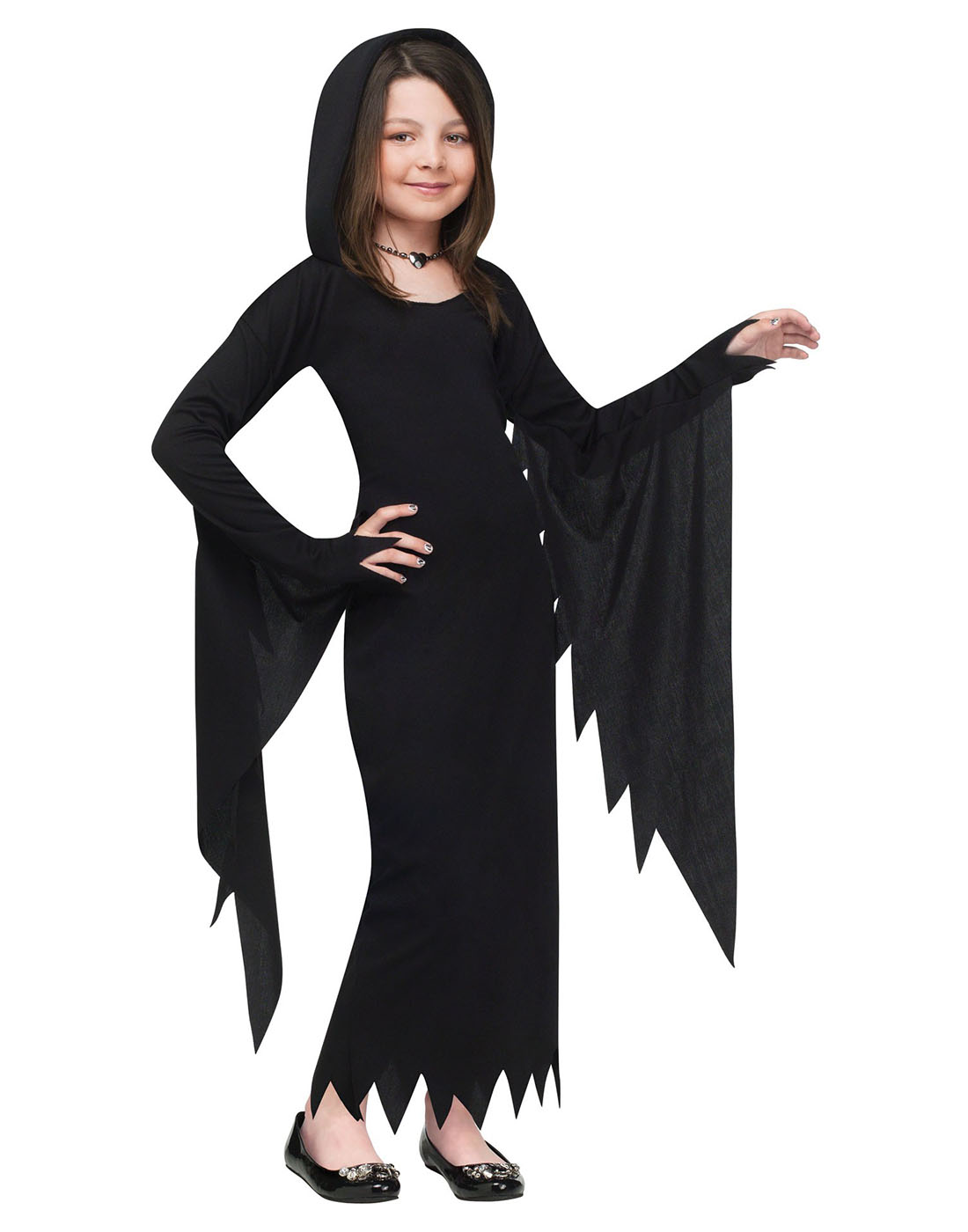 Hooded Gown Scream Movie Long Vampire Dress Girls Witch Halloween ...