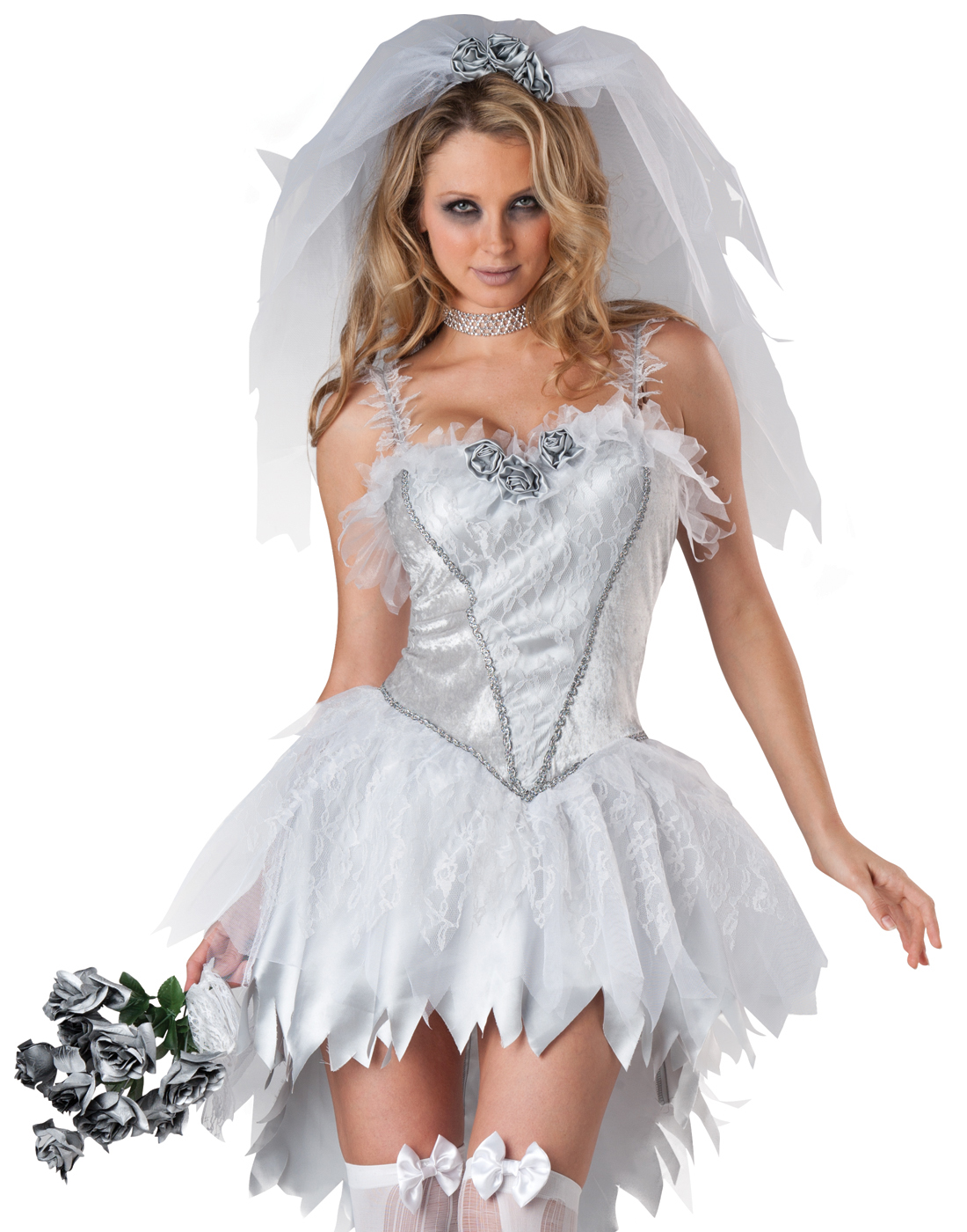 Bloodless Bride Zombie Wedding Dress Gown Dead Girl Adult