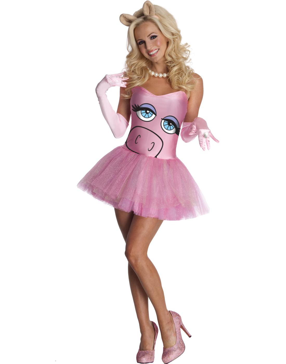 Halloween Miss Piggy The Muppets Pink TuTu Dress Womens Dress ...