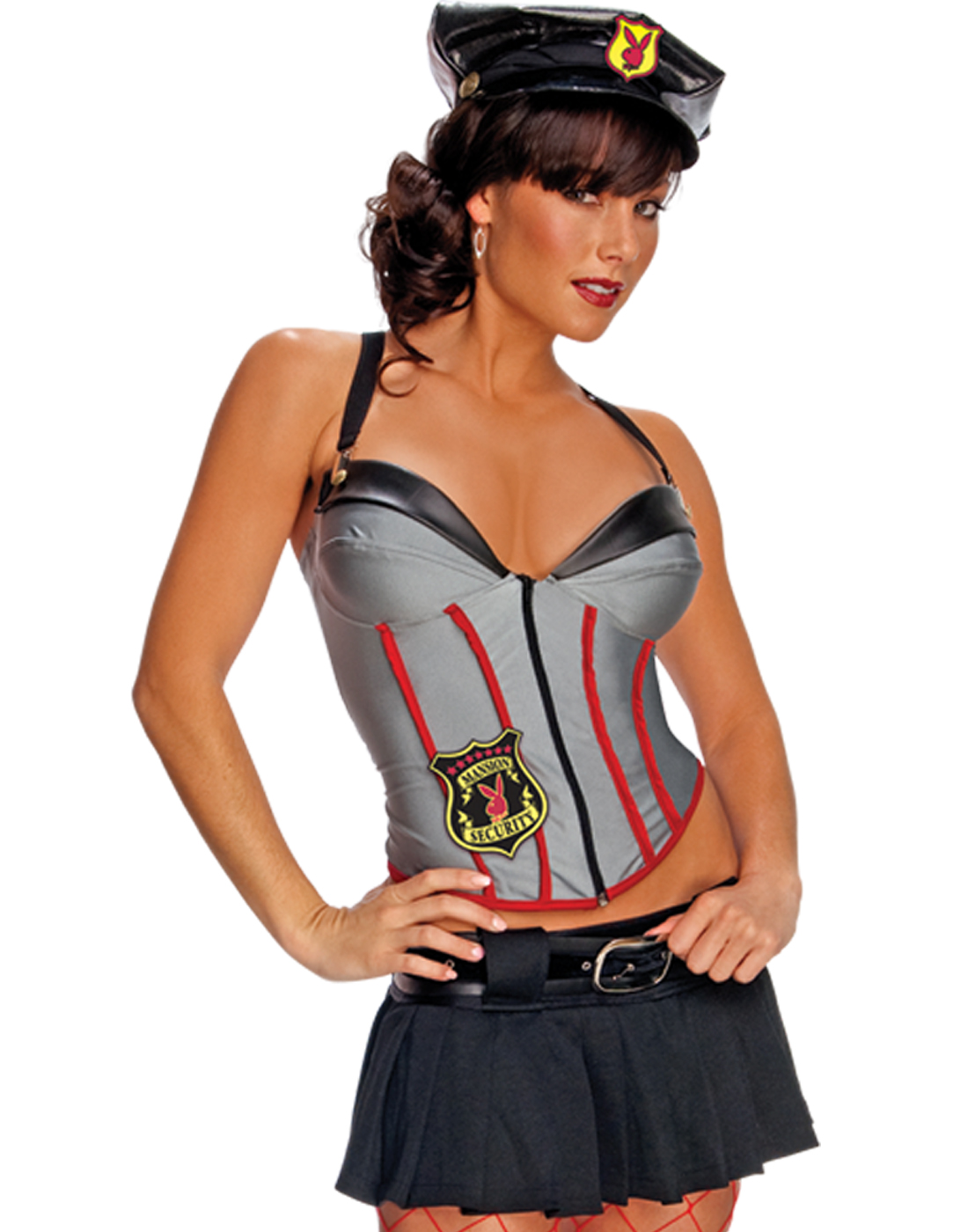 Playboy Mansion Security Babe Womens Sexy Dress Up Halloween Party ...
