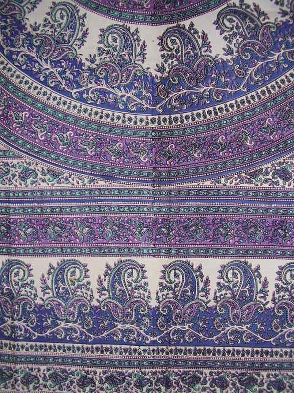India Arts Paisley Mandala Tapestry Cotton Bedspread 90