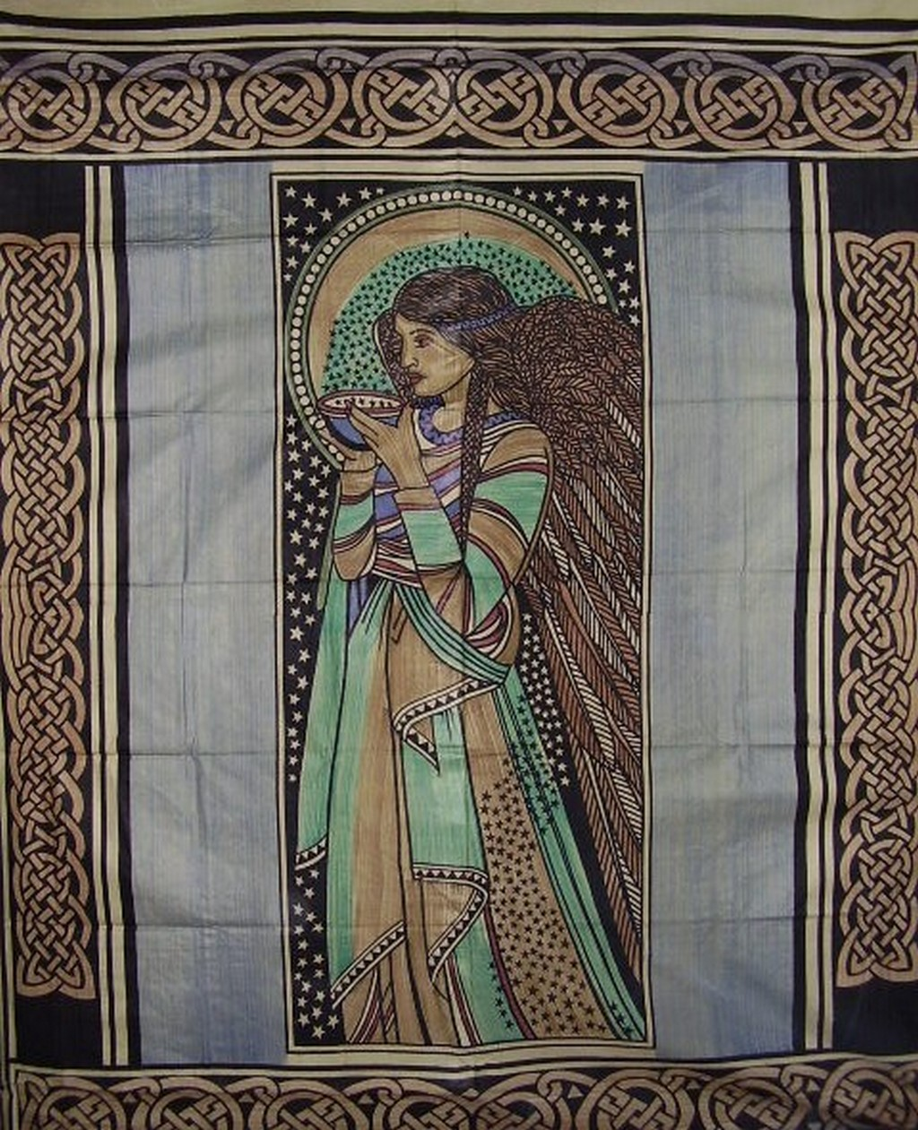 Celtic Peace Angel Tapestry Crayola Print Home Decor Ebay