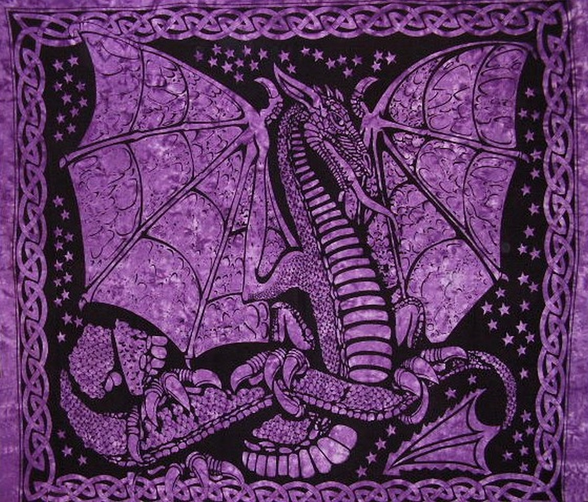Classic Imports Celtic Dragon Tapestry Cotton Bedspread 90