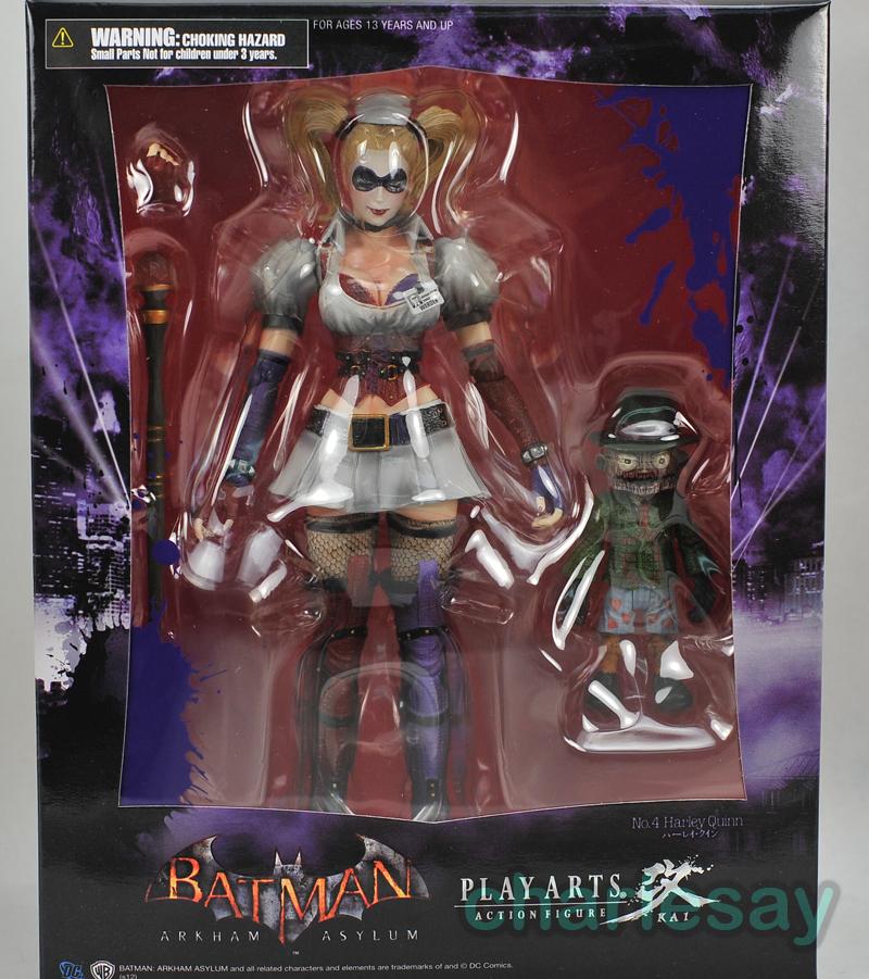 Square Enix Batman Arkham Asylum Play Arts Kai Harley Quinn Action Figure
