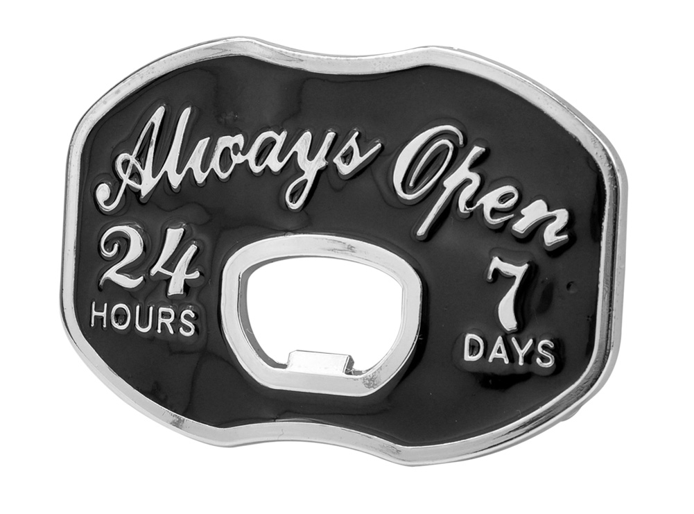always open bottle opener belt buckle funny cool unique ebay. Black Bedroom Furniture Sets. Home Design Ideas