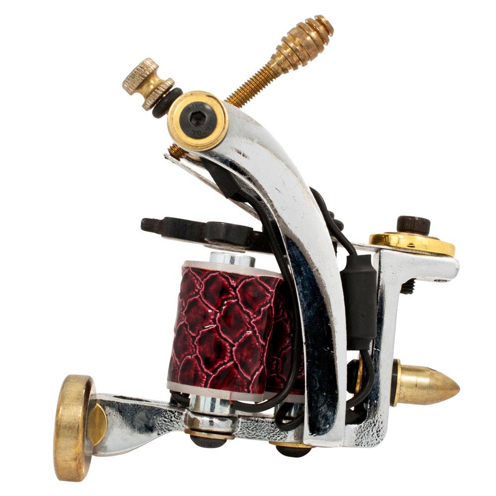 Triple coil tattoo machine cast iron liner shader h7 for Shader tattoo machine