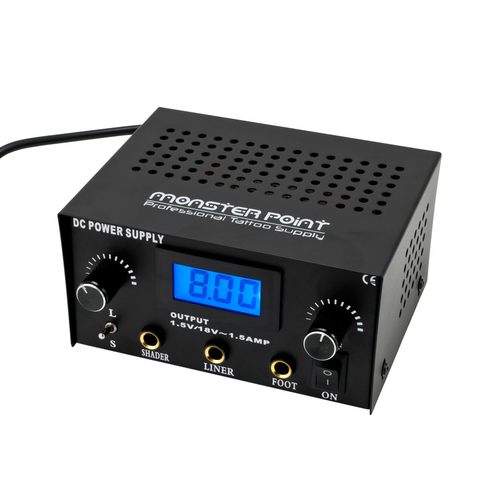 Dual digital tattoo machine power supply box double pro for Best tattoo power supply