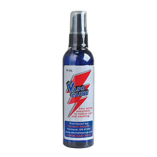 Vasocaine numbing spray tattoo painless anesthetic for Numbing for tattoo