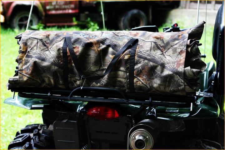Rain Rider ATV Soft Top Cab Suzuki King Quad Hardwood Grey Camo REALTREETOP-9