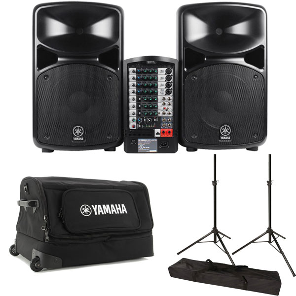 Yamaha stagepas 600i 680w portable pa system car for Yamaha pa system