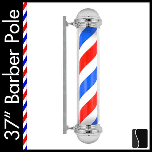 new 37 barber shop pole light red white blue metal. Black Bedroom Furniture Sets. Home Design Ideas