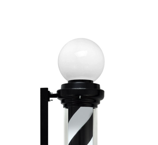 Large 40 quot  Barber Pole Light Black White Retro Rotating Metal Hair    Barber Pole Black And White