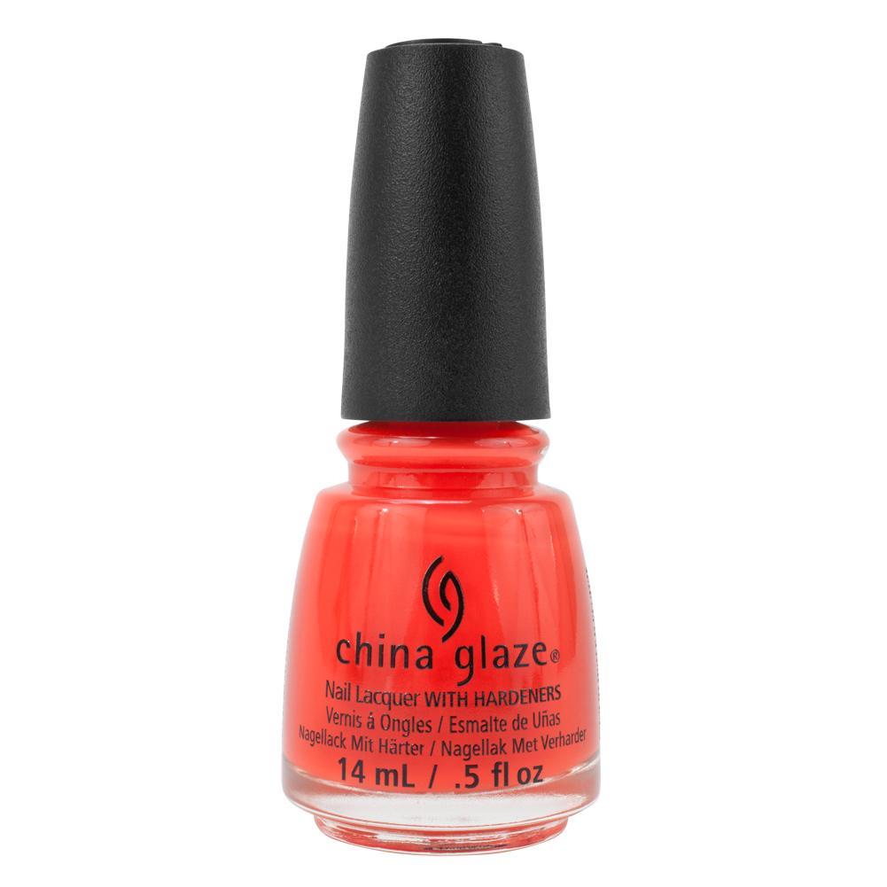 China Glaze Red Nail Polish: China Glaze Clay Road Trip Nail Polish Orange Red Pop The