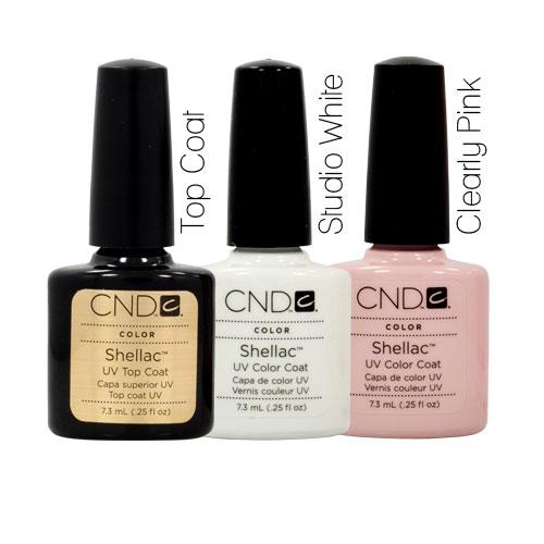 Pink Nail Polish Top Coat: CND Shellac French Manicure Kit Top Coat Color Nail Polish