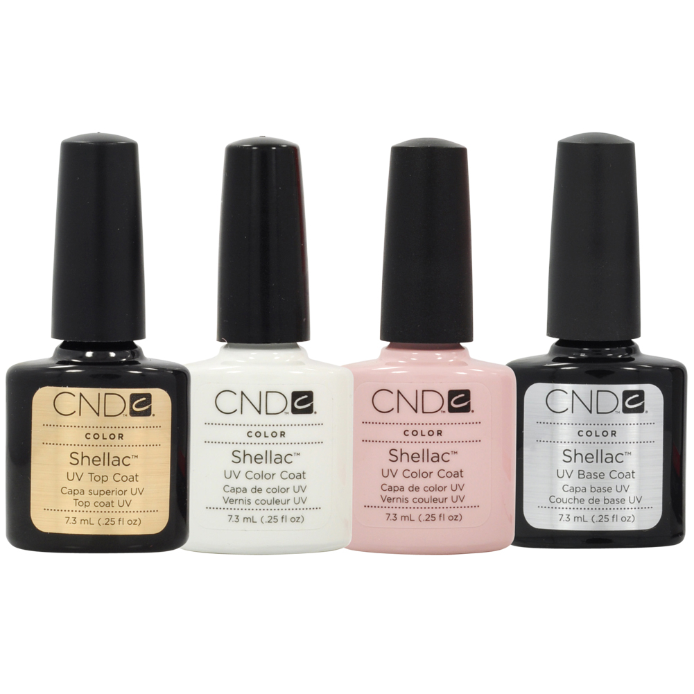manicure kit top base coat color nail polish gel white pink top rated