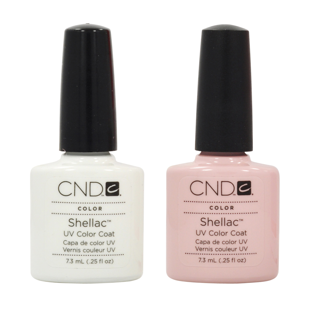 CND Shellac French Manicure Kit Coat Color Nail Polish Gel White Pink