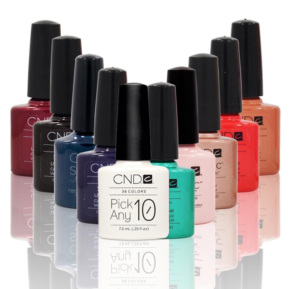 CHOOSE 10 CND Shellac UV Gel Nail Polish Manicure PICK