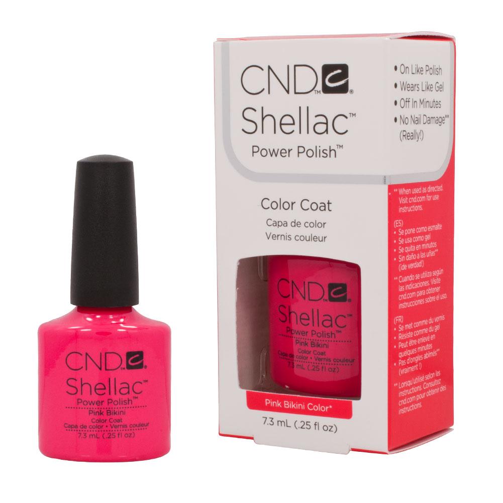 CND Shellac PINK BIKINI Soak Off Gel UV Nail Polish 0.25oz