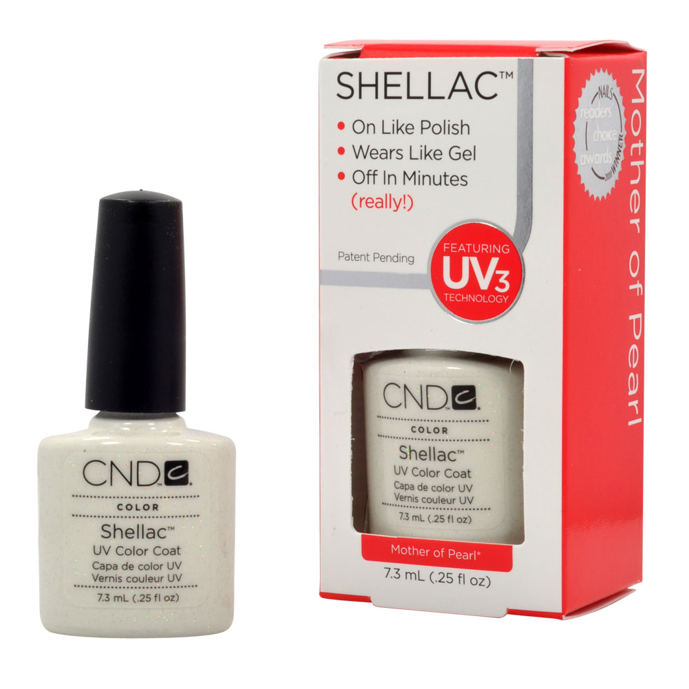 cnd shellac mother of pearl gel uv nail polish oz manicure soak off 1 4 ebay. Black Bedroom Furniture Sets. Home Design Ideas