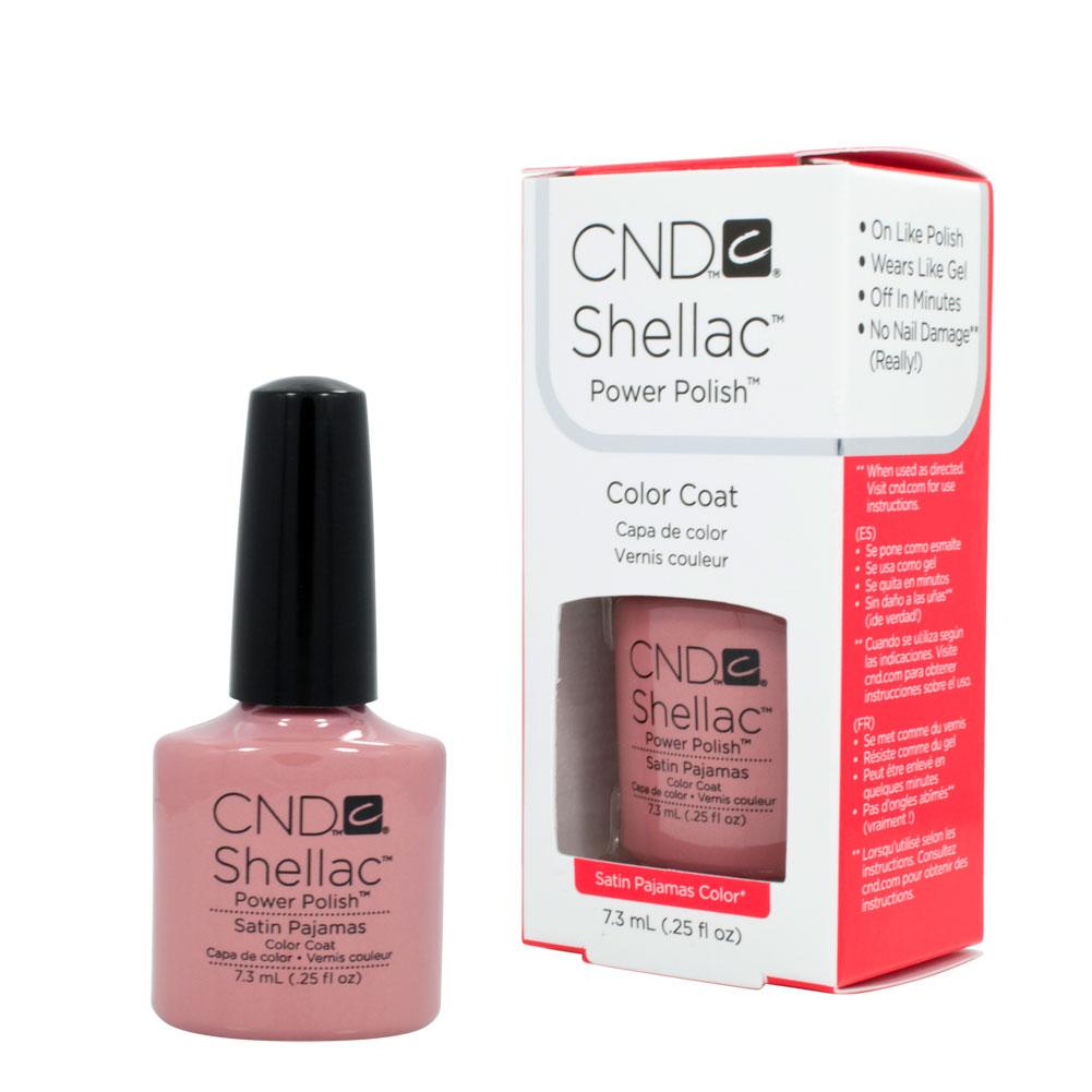 CND Shellac SATIN PAJAMAS Gel UV .25oz Nail Polish
