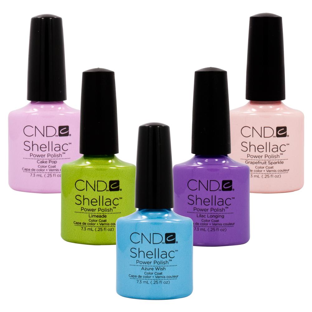 cnd shellac uv nail gel polish sweet dreams 2013 spring collection 5 color set ebay. Black Bedroom Furniture Sets. Home Design Ideas