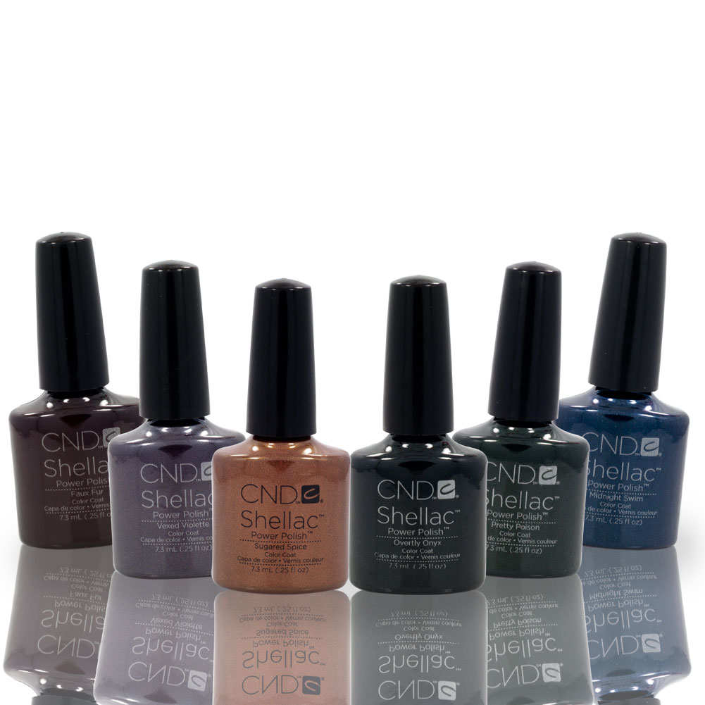 cnd shellac uv nail gel polish fall winter wonderful 2012 collection 6 color set ebay. Black Bedroom Furniture Sets. Home Design Ideas