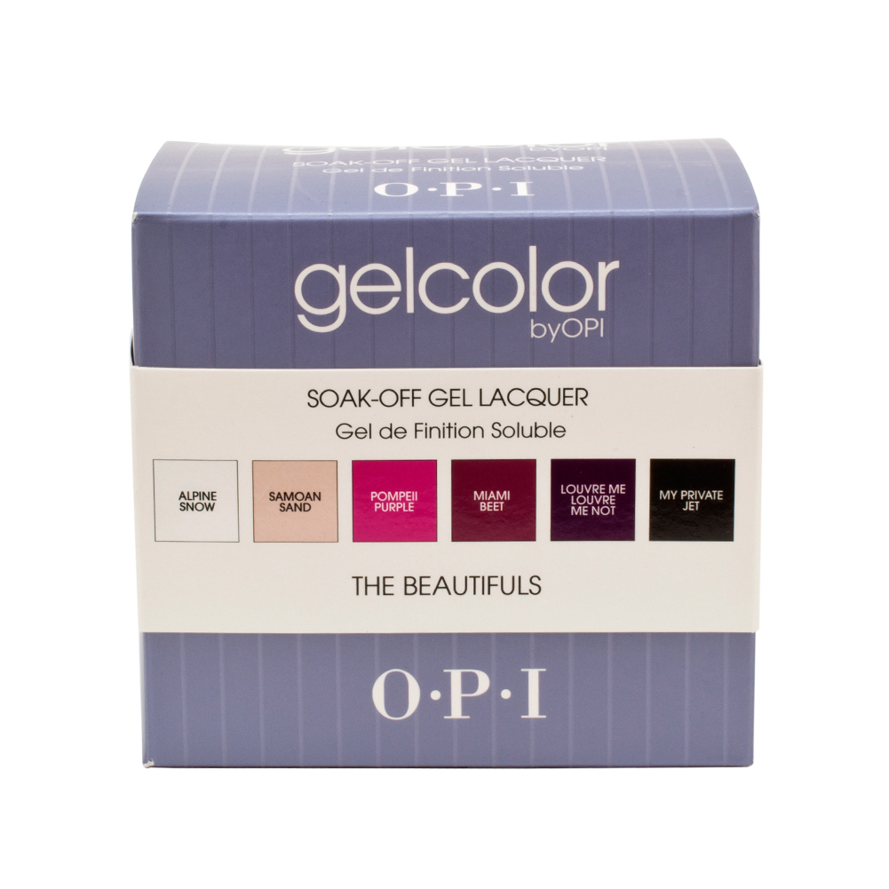 OPI GelColor Beautifuls Gel Kit Nail Polish Lacquer Manicure 6 Bottle