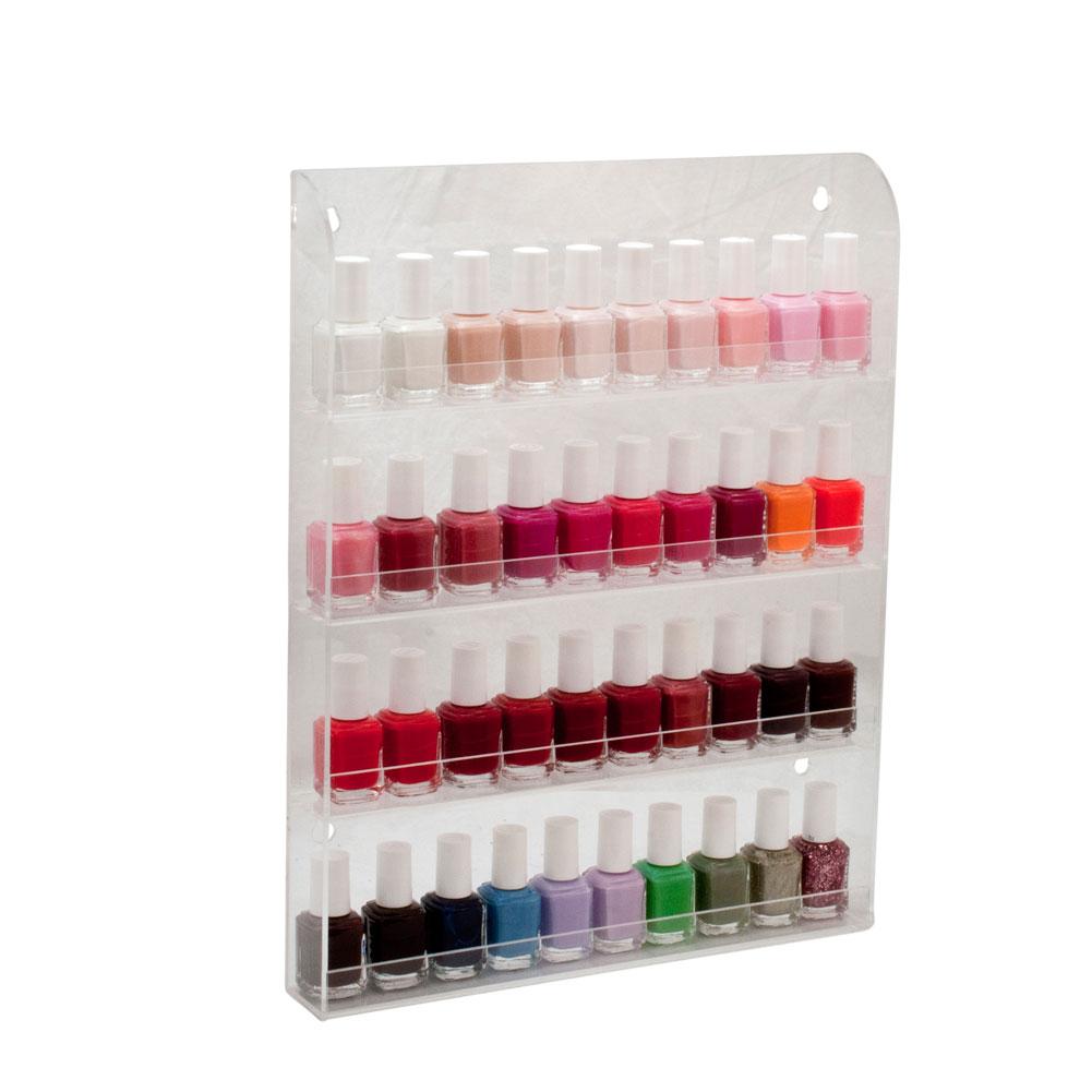 40 bottles clear acrylic nail polish salon wall display for Acrylic nail salon prices