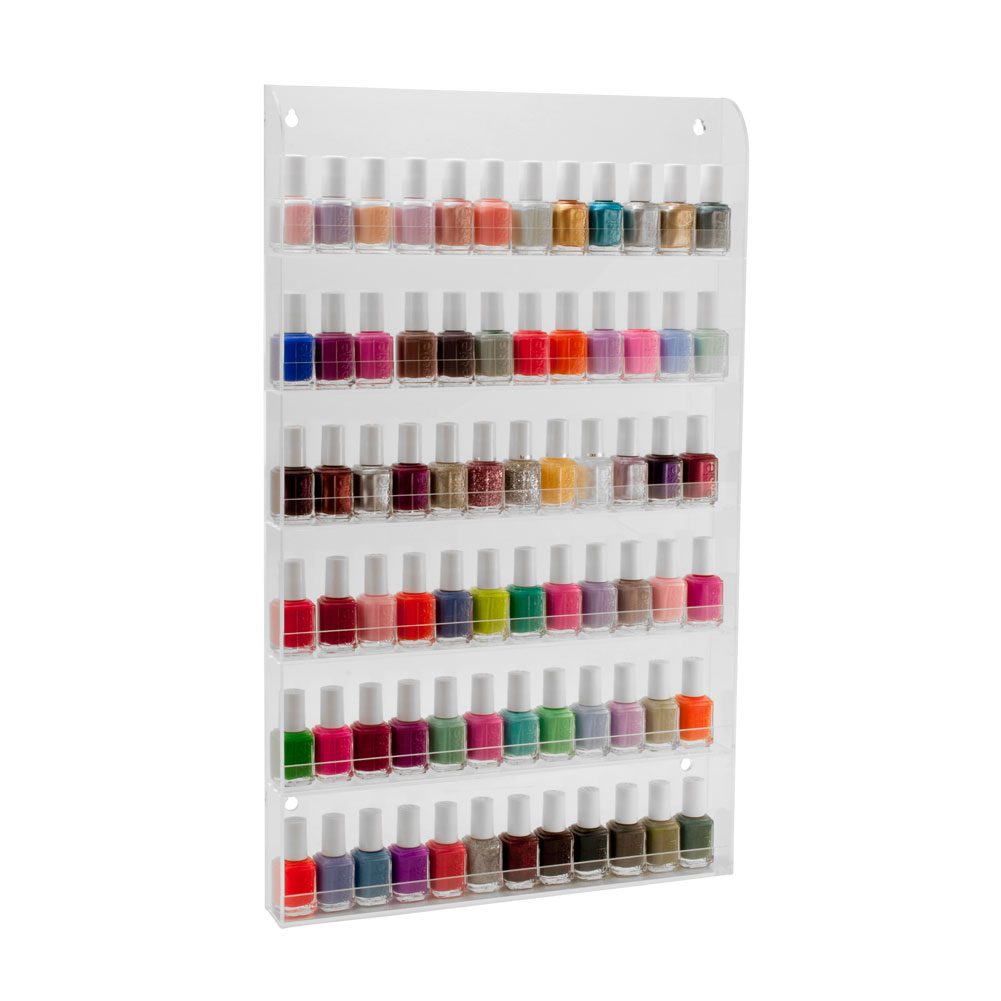 72 Bottles Clear Acrylic Nail Polish Organizer Salon Wall