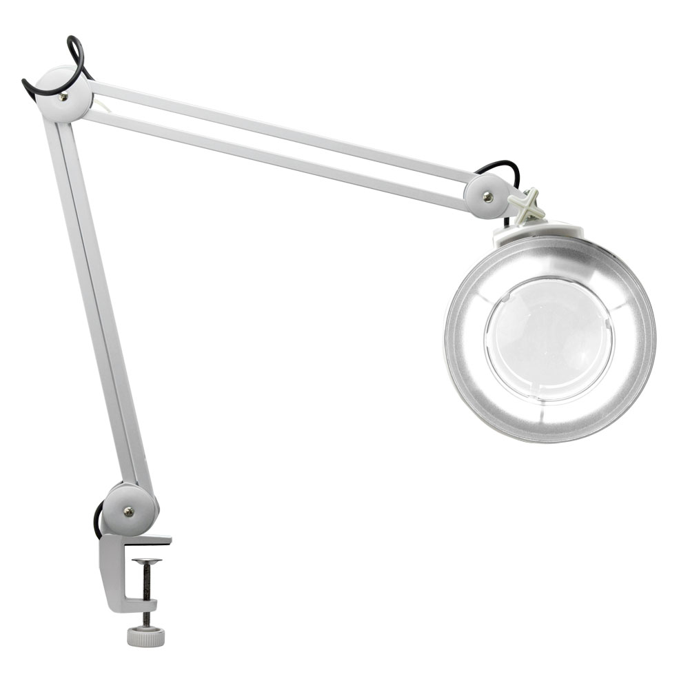 clamp magnifying lamp beauty adjustable facial magnifier w base ebay. Black Bedroom Furniture Sets. Home Design Ideas