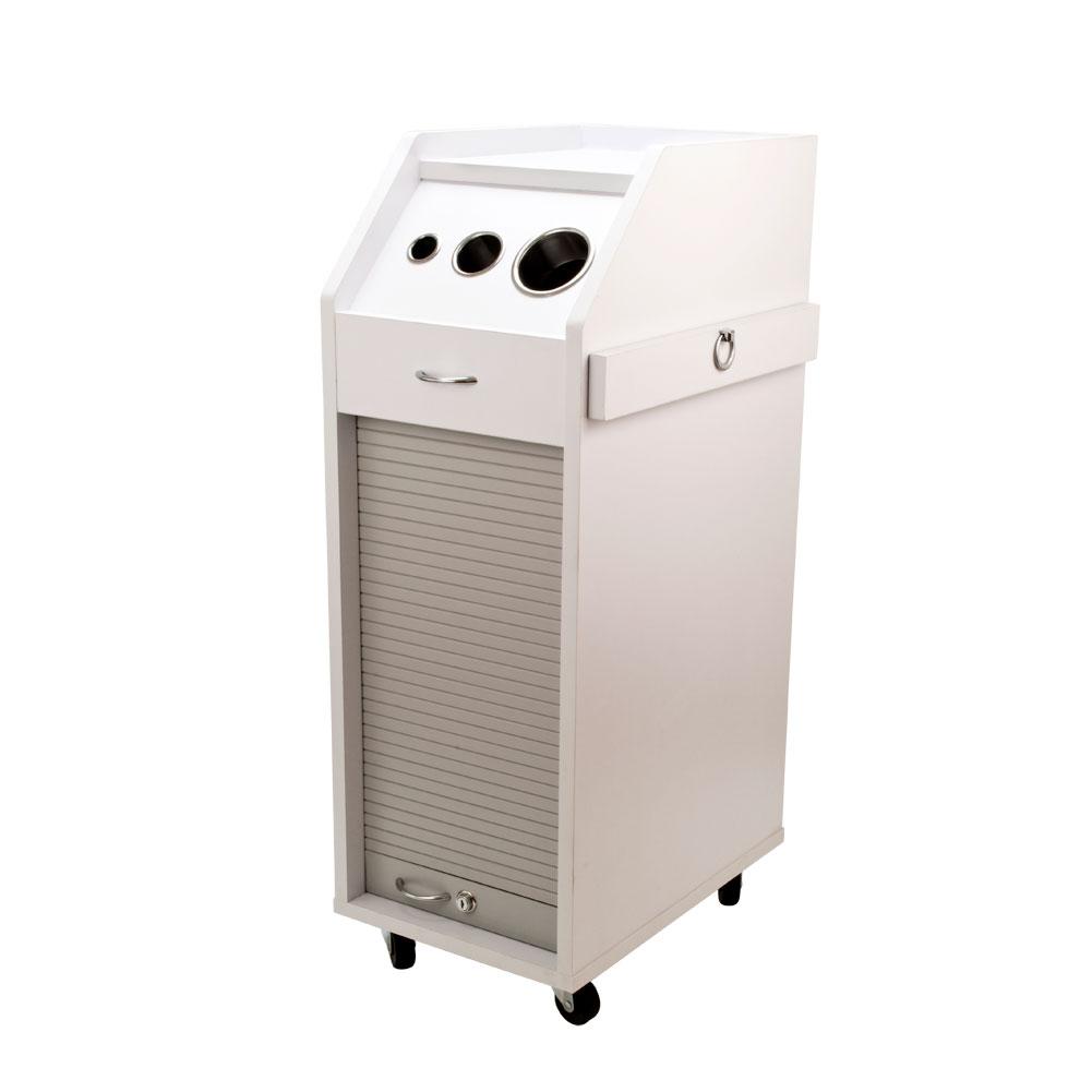 New Salon Trolley Cart Hair Perm Beauty Salon Mobile Equipment Wht w Wheels