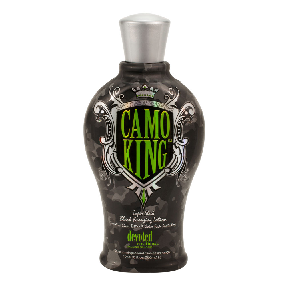 Devoted creations camo king black bronzer tanning lotion for Tattoo tanning lotion