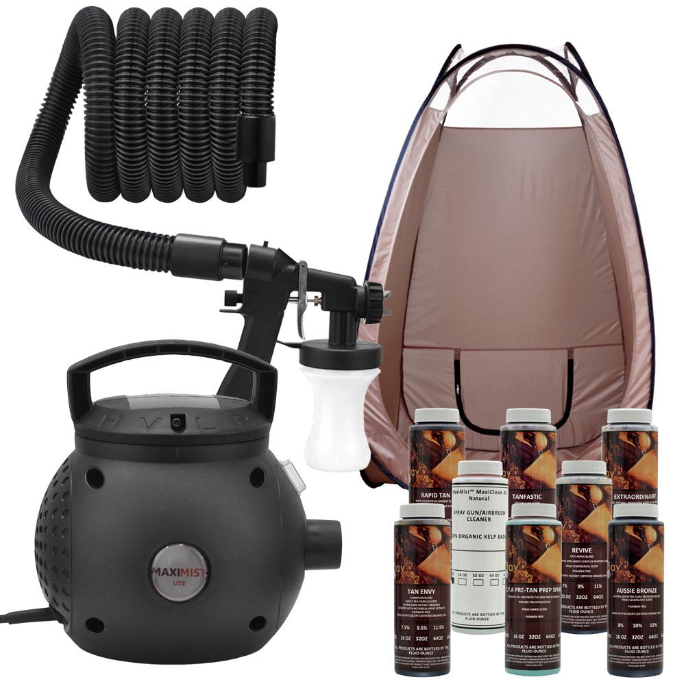 Maxi Mist Lite Sunless Spray Tanning Kit Tent Machine