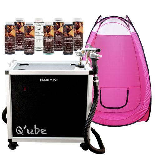 Maximist Qube Airbrush Tanning Machine Pink Tent Dha Hvlp