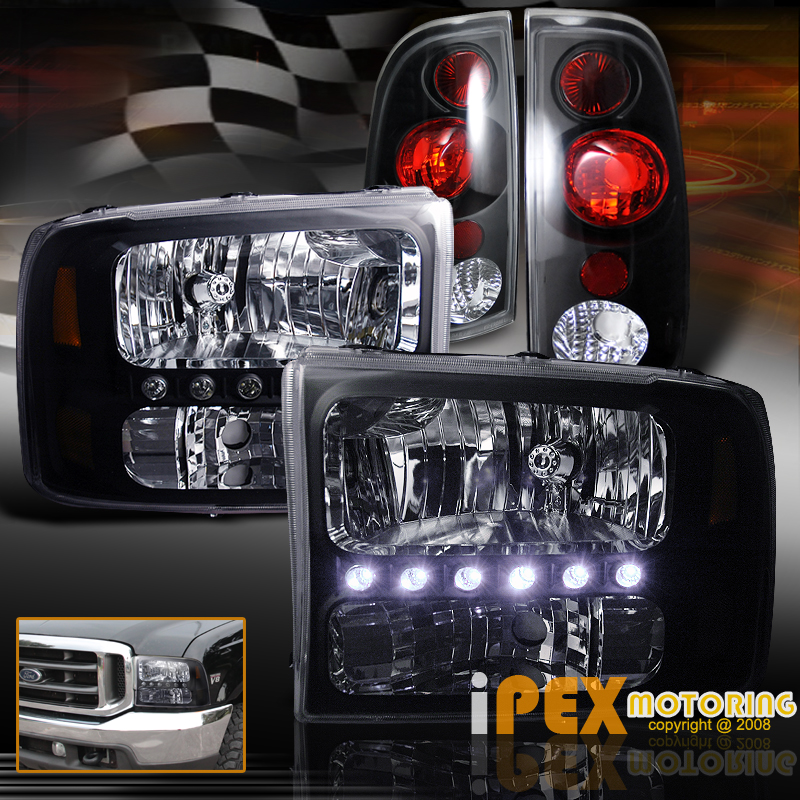 1999 2004 Ford F250 F350 SUPER DUTY Bright LED Headlights
