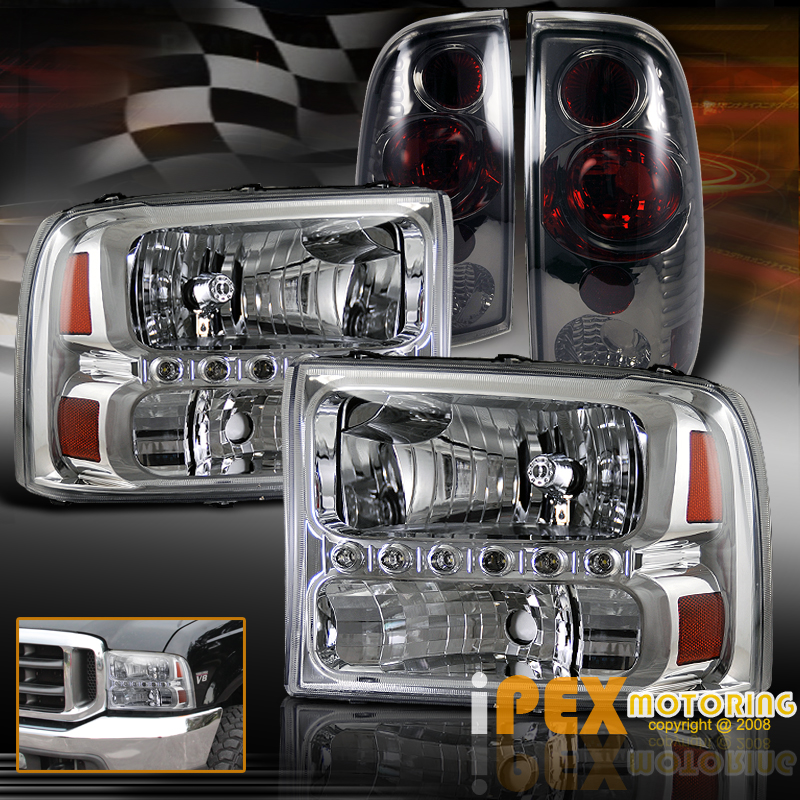 1999 2004 Ford F250 Super Duty Facelift LED Chrome