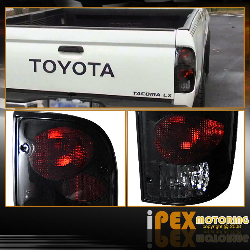 19982000 Toyota Tacoma 4WD Black Headlight W Corner  Dark Smoke